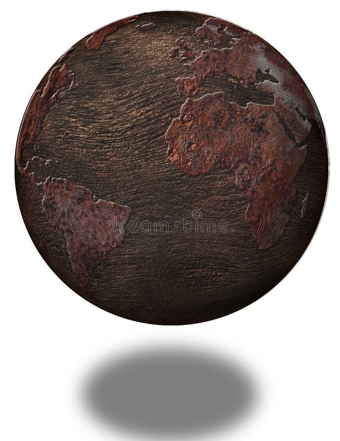 Rdzewiejąca planety ziemia royalty ilustracja