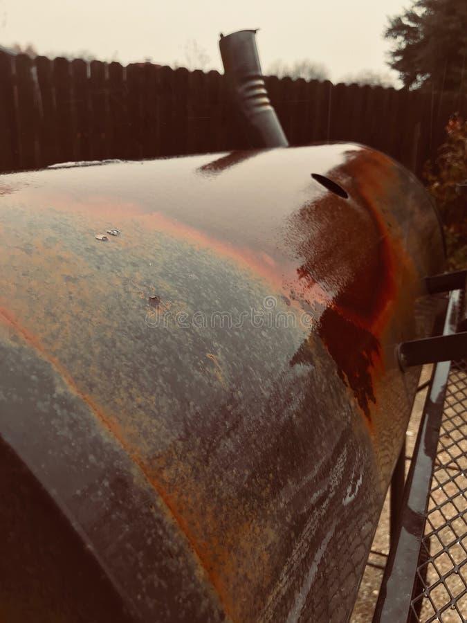 Rdzewiejący grill obraz royalty free