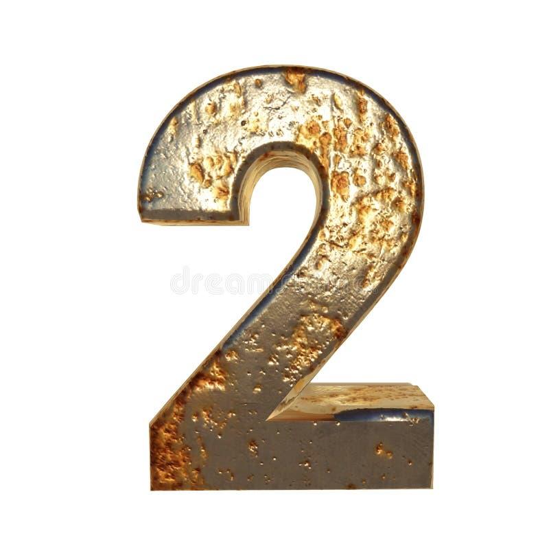Rdzewiejący metal liczba 2 ilustracji
