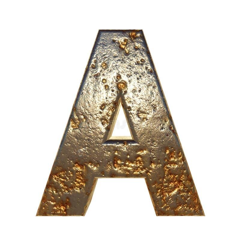 Rdzewiejący metalu list A ilustracji