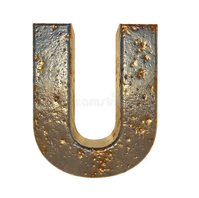 Rdzewiejący metalu list U ilustracji