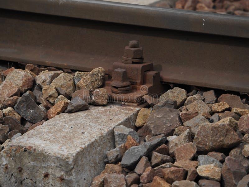Rdzewiejący poręcza rygiel zdjęcie royalty free
