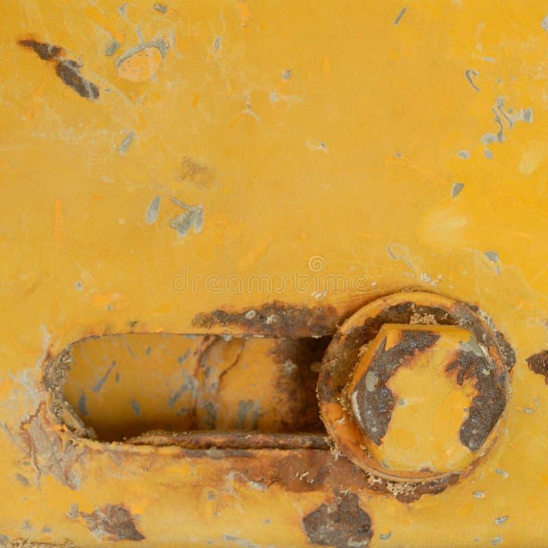 Rdzewiejący rygiel z dokrętką zdjęcie stock