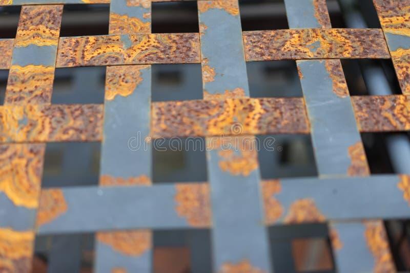 Rdzewiejący stalowy greting zdjęcia royalty free