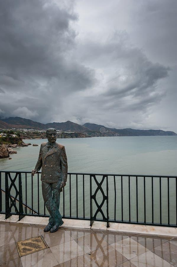 Re Alfonso XII a Balcón de Europa fotografie stock
