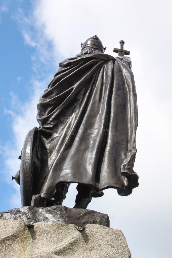 Re Alfred The Great Statue fotografie stock libere da diritti