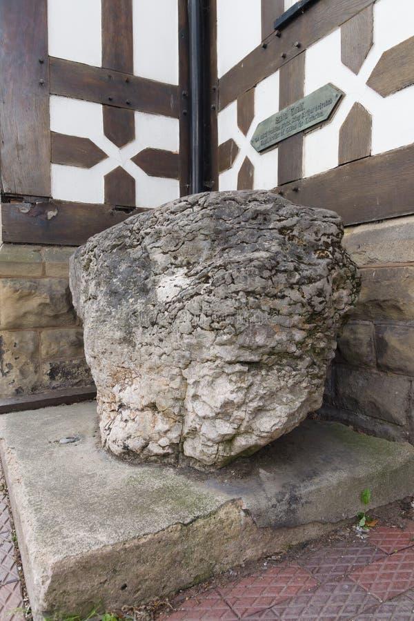 Re Arthurs Stone Ruthin Galles fotografia stock libera da diritti