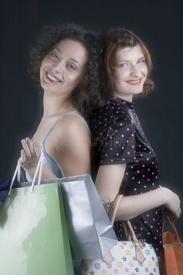 We're back from shopping stock photos