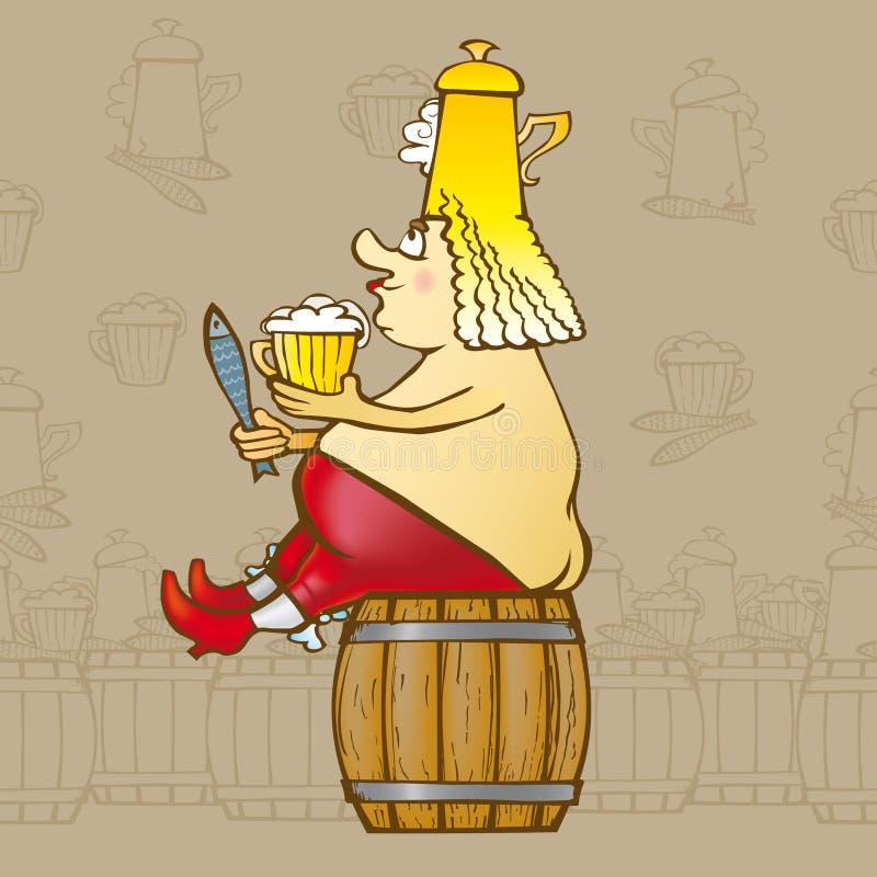 Re Beer royalty illustrazione gratis