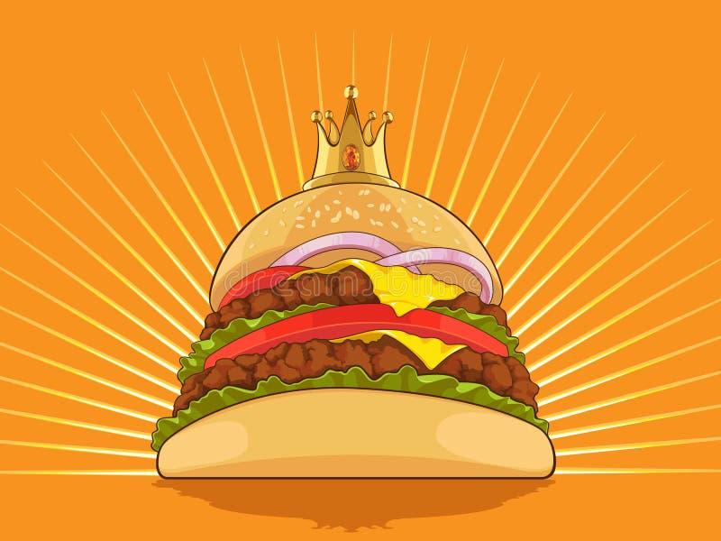 Re Burger royalty illustrazione gratis