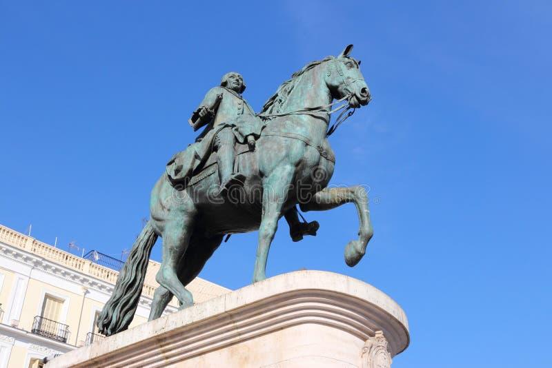 Re Carlos III fotografia stock