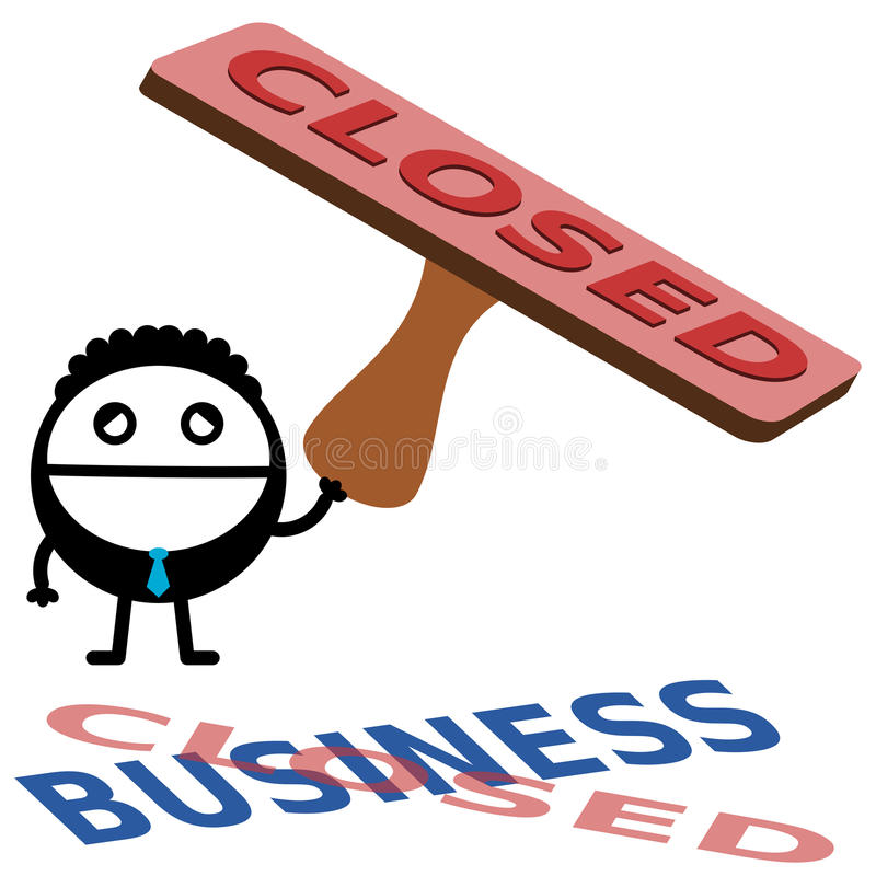 Download We're closed stock illustration. Illustration of conceptual - 36397999
