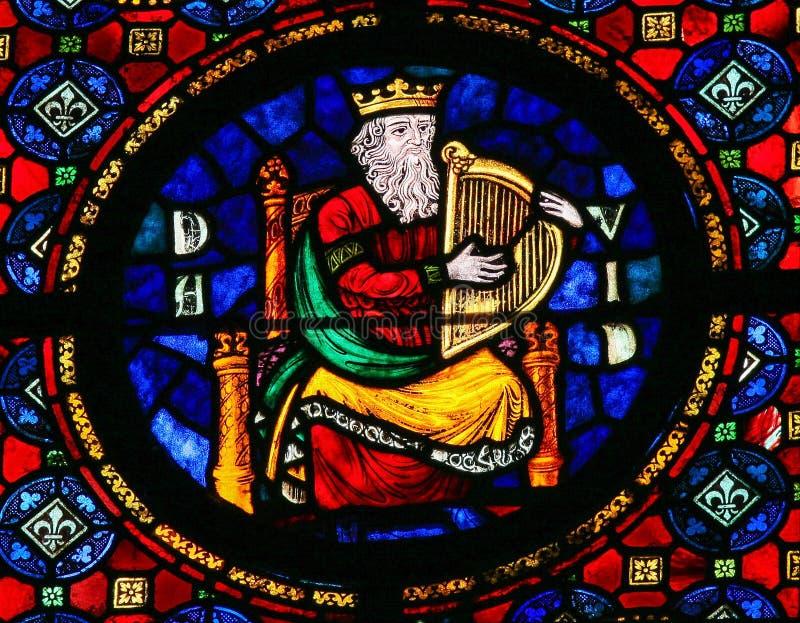 Re David - vetro macchiato immagine stock libera da diritti