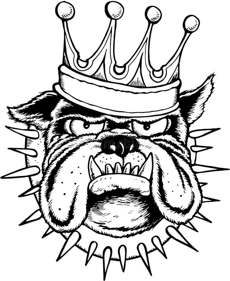 Re del bulldog illustrazione vettoriale