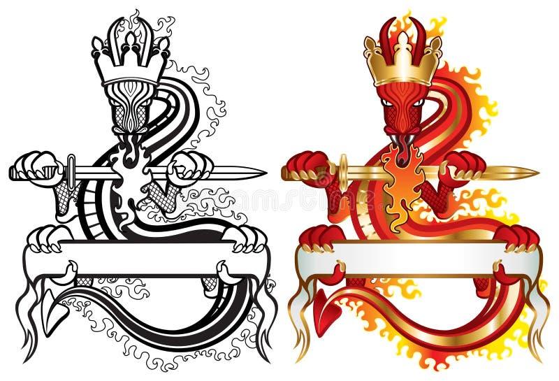 Re del drago illustrazione vettoriale
