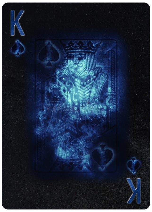 Re del fondo dell'estratto della carta da gioco delle vanghe illustrazione vettoriale