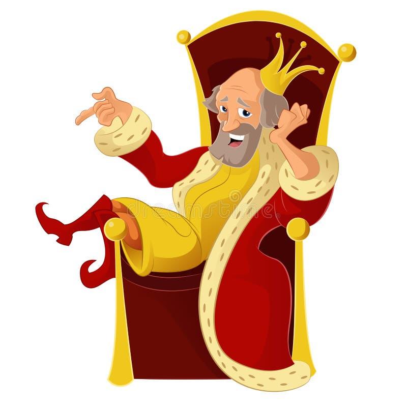 Re del fumetto illustrazione di stock