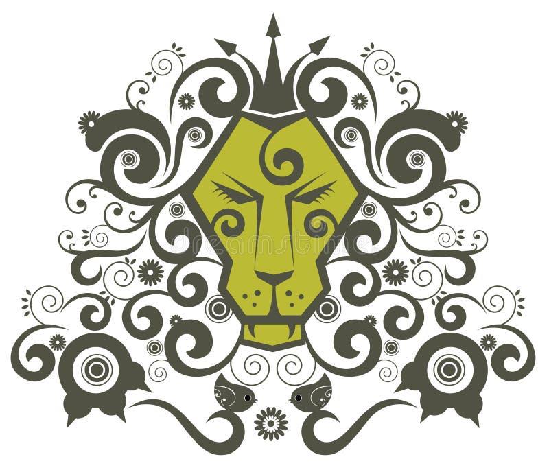 Re del leone royalty illustrazione gratis