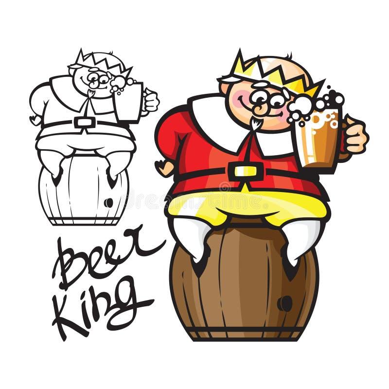 Re della birra royalty illustrazione gratis
