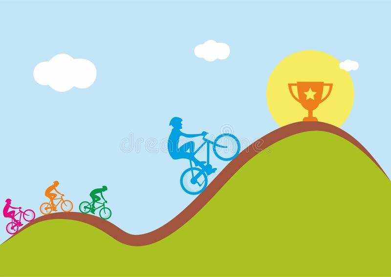 Re della concorrenza della montagna illustrazione di stock