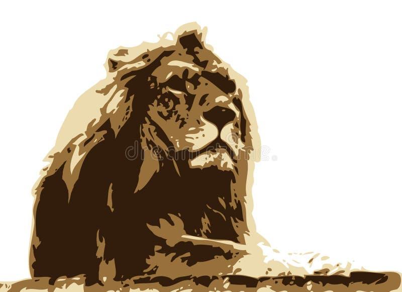 Re della giungla illustrazione di stock