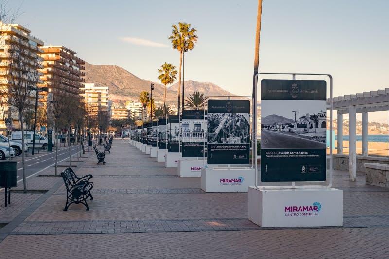 Re della passeggiata della Spagna, Fuengirola, Spagna fotografia stock libera da diritti