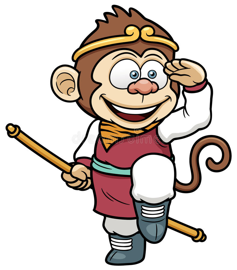 Re della scimmia illustrazione di stock