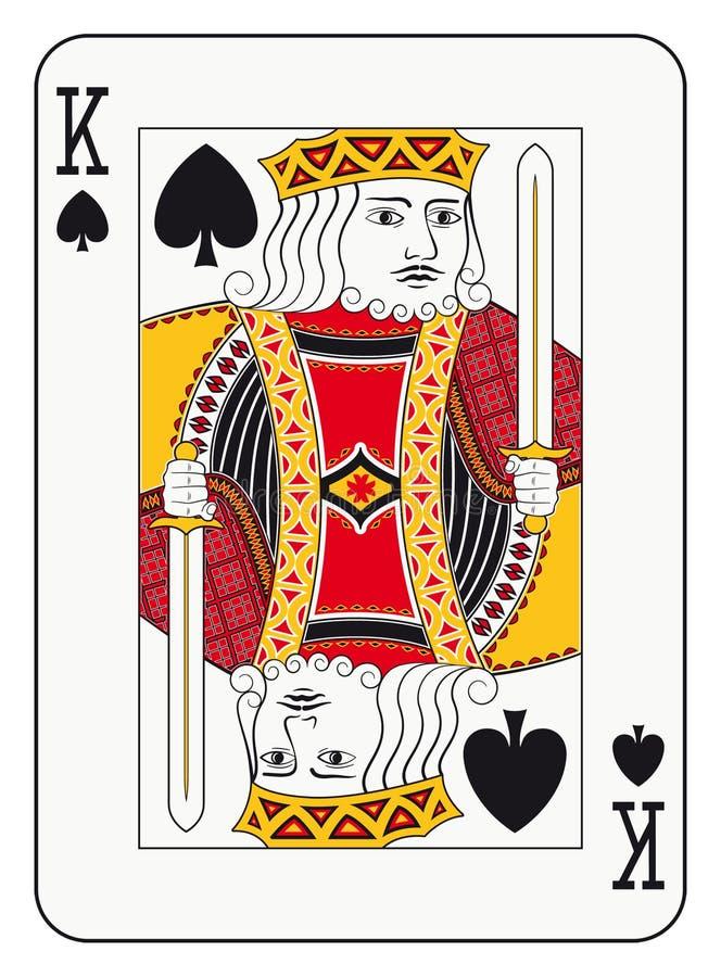 Re delle forcelle illustrazione di stock