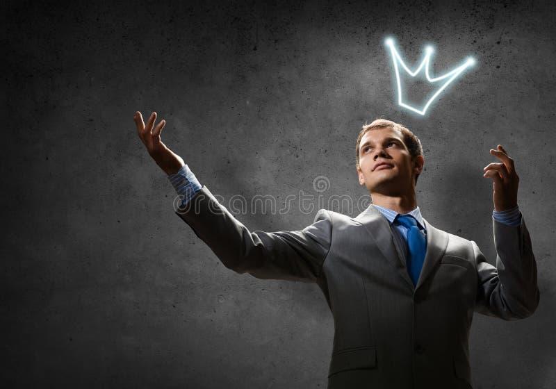 Re di affari fotografia stock