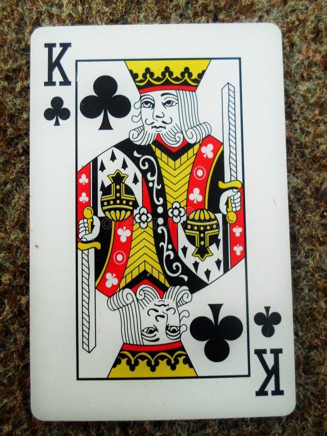 Re di una carta del club immagine stock