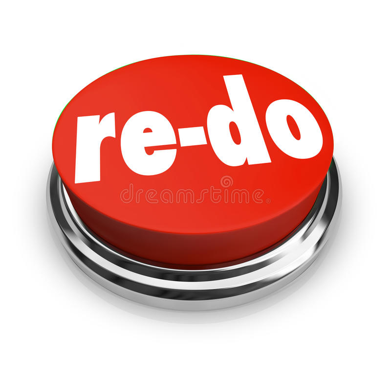Free Re-Do Red Button Redo Change Revision Improvement Stock Images - 31478274
