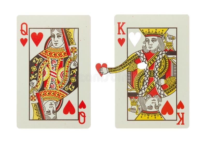 Re e regina dei cuori in una relazione fotografia stock libera da diritti