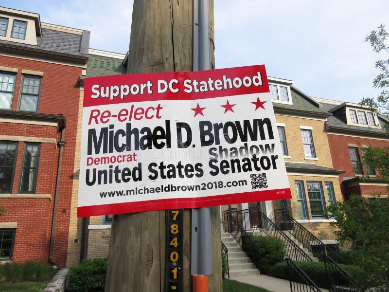 Re-eleja Micheal D Senador da sombra de Brown imagens de stock royalty free