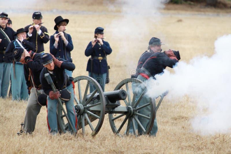Re-enactment da invasão de Brooksville foto de stock royalty free