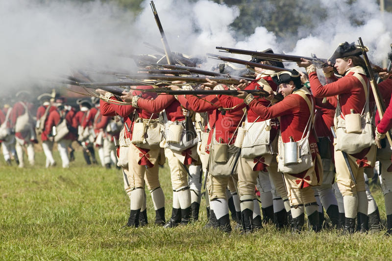 Re-enactment do ataque nos Redoubts 9 & 10 fotografia de stock royalty free