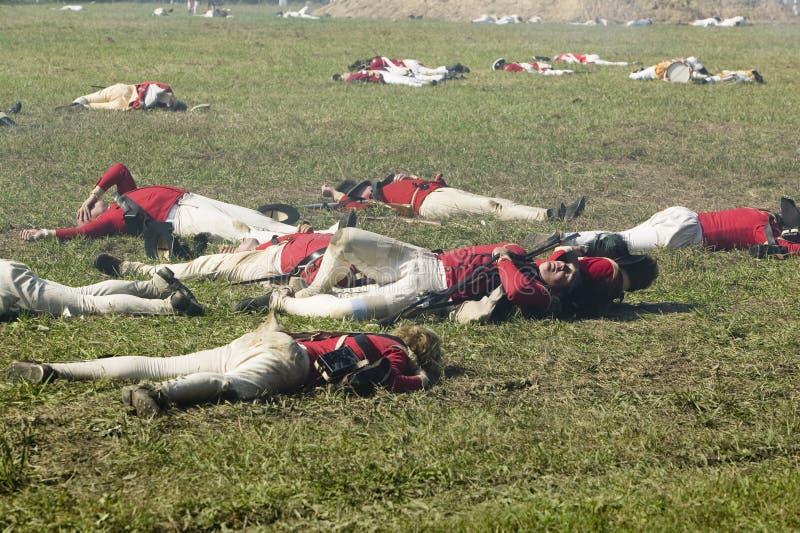Re-enactment do ataque nos Redoubts 9 & 10 imagem de stock royalty free