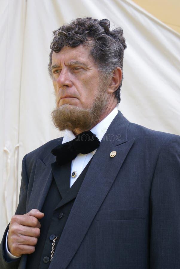 Re-enactor de Abraham Lincoln fotos de archivo libres de regalías