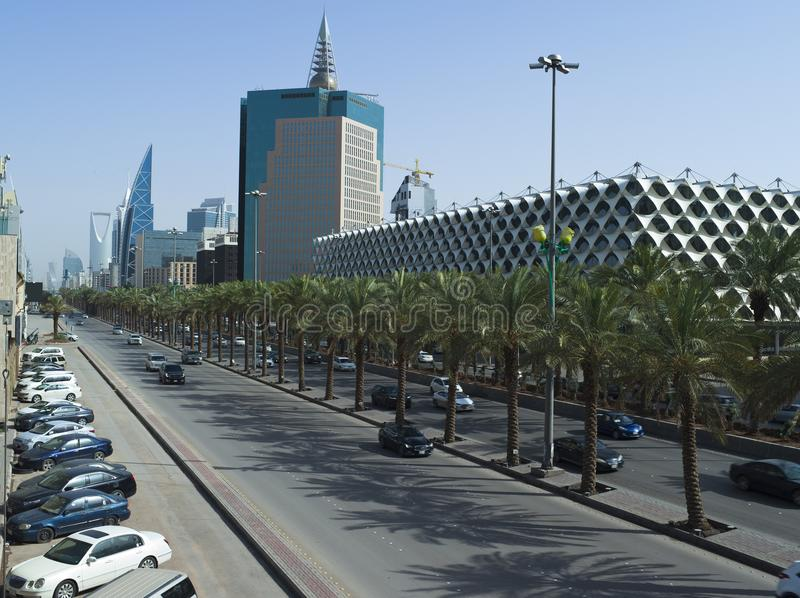 Re Fahad National Library in Riyad fotografie stock