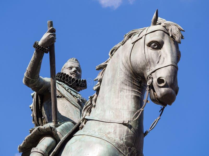 Re Felipe III fotografia stock