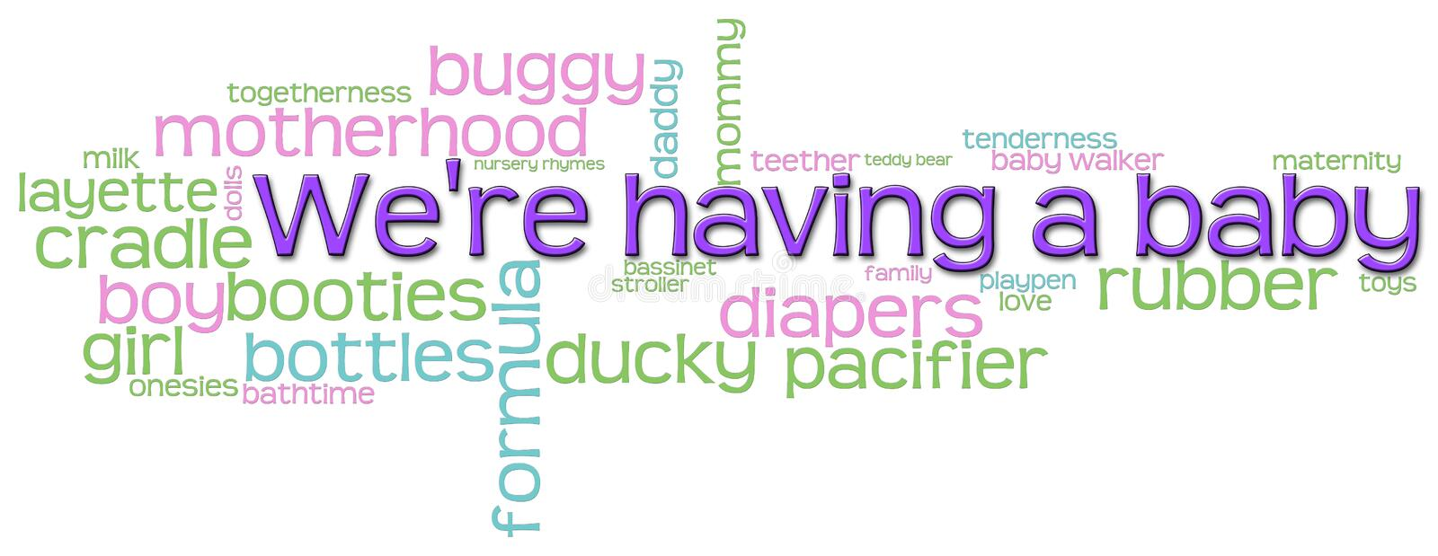 Download We're Having a Baby stock illustration. Illustration of diapers - 16563645