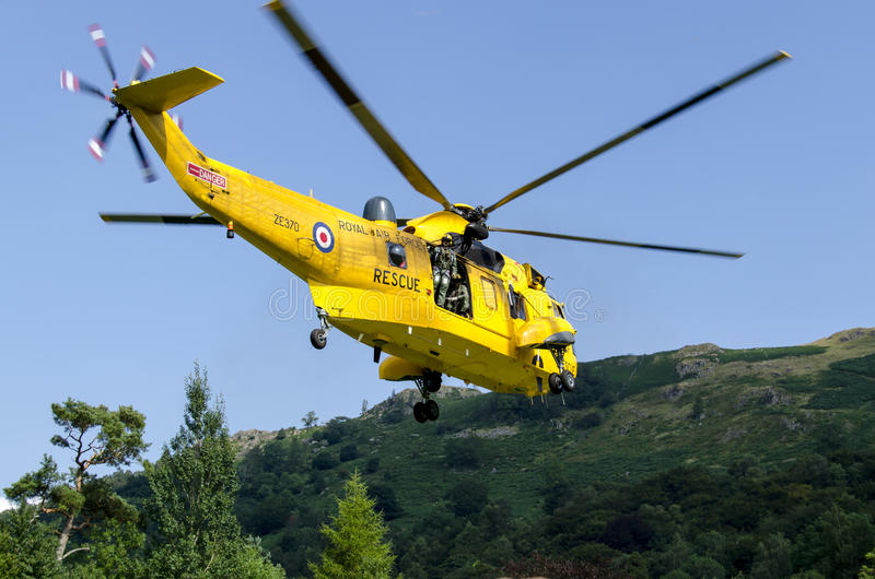 Re Helicopter di RAF Sea immagini stock