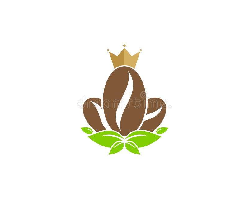 Re Icon Logo Design Element del caffè illustrazione di stock