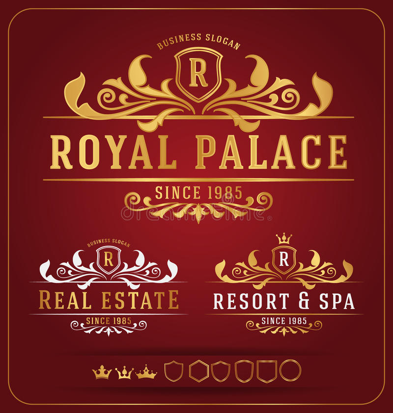 Re-important calibre royal luxueux de conception de Logo Vector illustration libre de droits