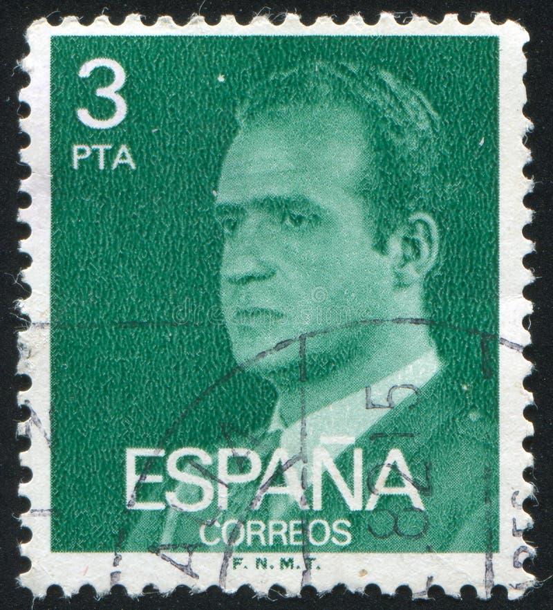 Re Juan Carlos fotografia stock