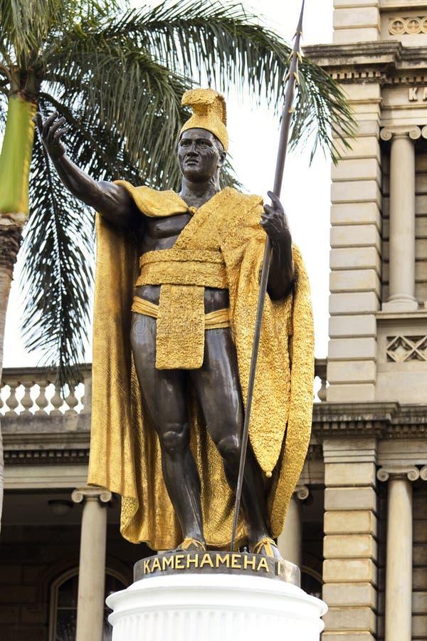 Re Kamehameha Statue immagine stock libera da diritti