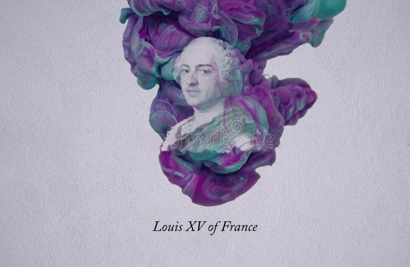 Re Louis XV della Francia illustrazione vettoriale