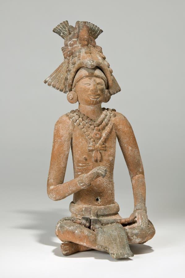 Re Mayan Figurine di Jaina fotografia stock libera da diritti
