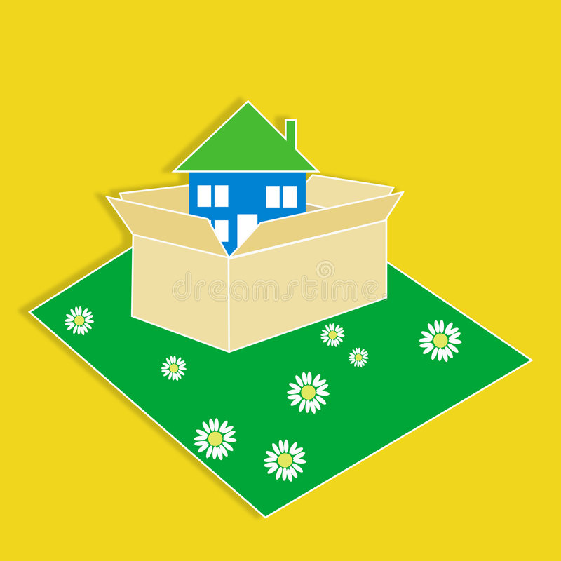 Download We're Moving To A New House Stock Illustration - Image: 2606352