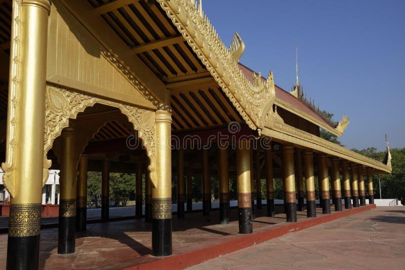Re Palace a Mandalay, Myanmar (Birmania) fotografie stock