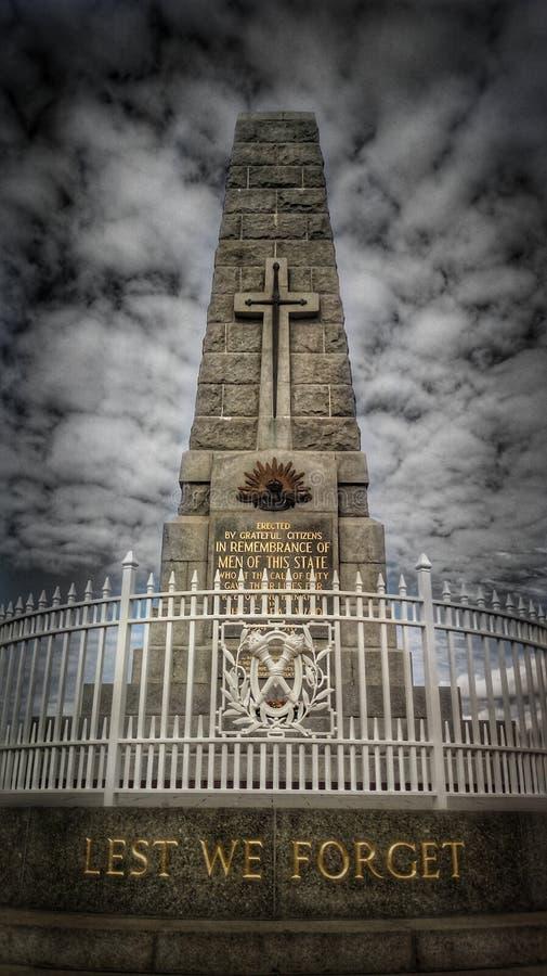 Re Park Anzac Monument fotografie stock libere da diritti
